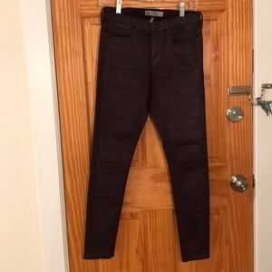 Topshop Faux Leather Skinny Jeans